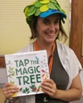 Emily Bayci, funky hat librarian