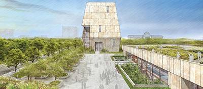 The design for the Obama Presidential Center in Chicago's Jackson Park was unveiled May 3
