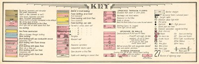 Key to Sanborn Fire Insurance Map from New York, Bronx, Kings, Queens, Richmond, New York, 1911