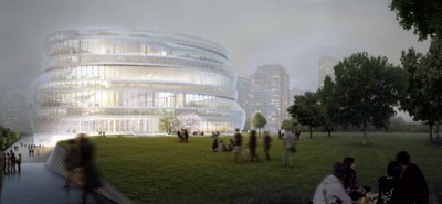Winning design for Shanghai Library East Hall