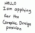 Example of poor cover letter