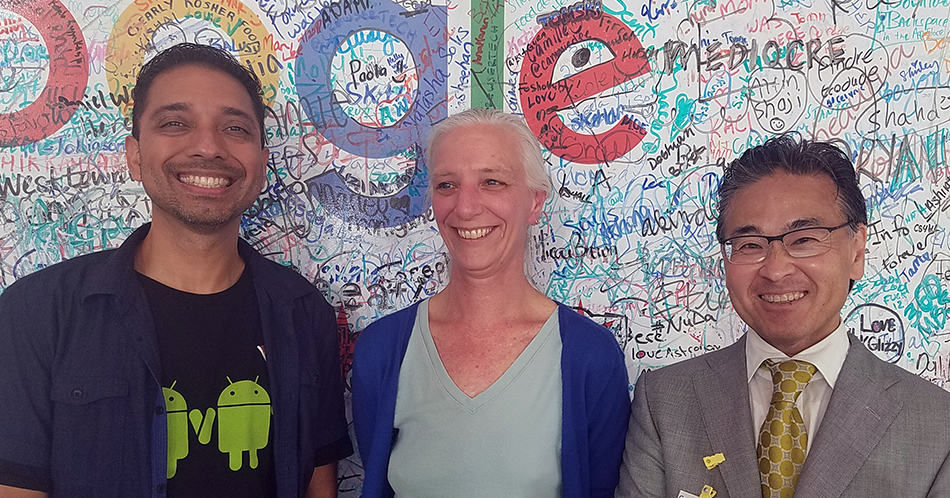 Google software engineer Jessie Chavez, project director Marijke Visser, and Office for Information Technology Policy Director Alan Inouye at the June 22 announcement of a new Ready to Code initiative.