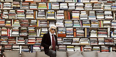 Karl Lagerfeld has more books than you