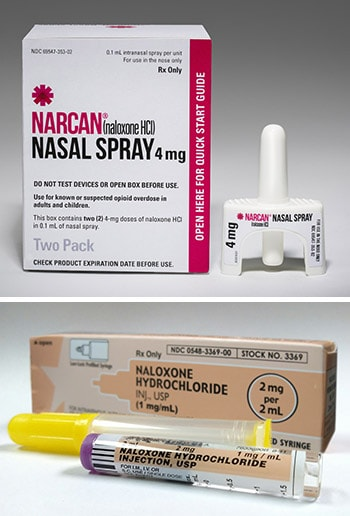 Naloxone is available in nasal-spray form or as an injectable.