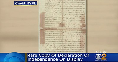 New York Public Library's Declaration of Independence