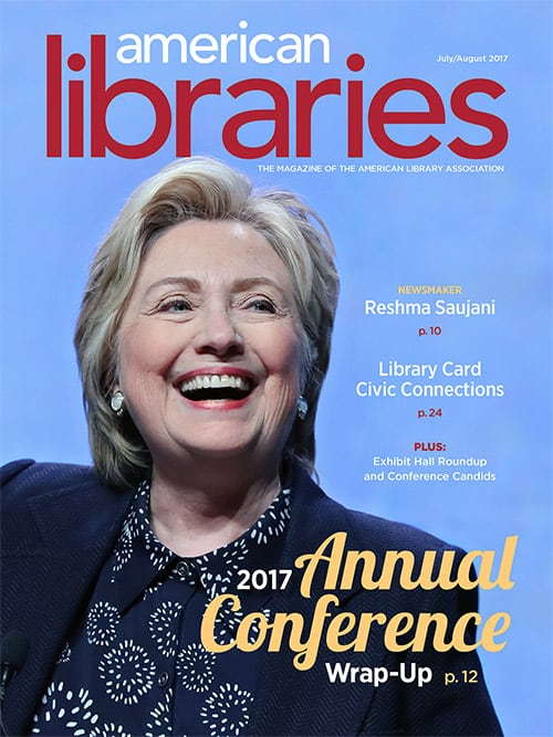 July/August cover of American Libraries