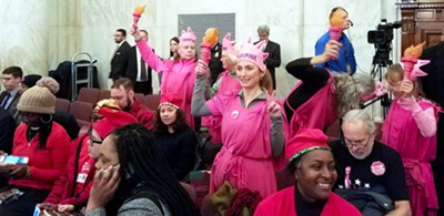 Code Pink protesters at Sessions confirmation hearing