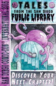 San Diego Public Library partnered with ToshWerks, a local design studio, to create limited-edition library cards for Comic-Con 2016.