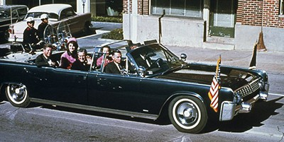 John F. Kennedy in Dallas on November 22, 1963