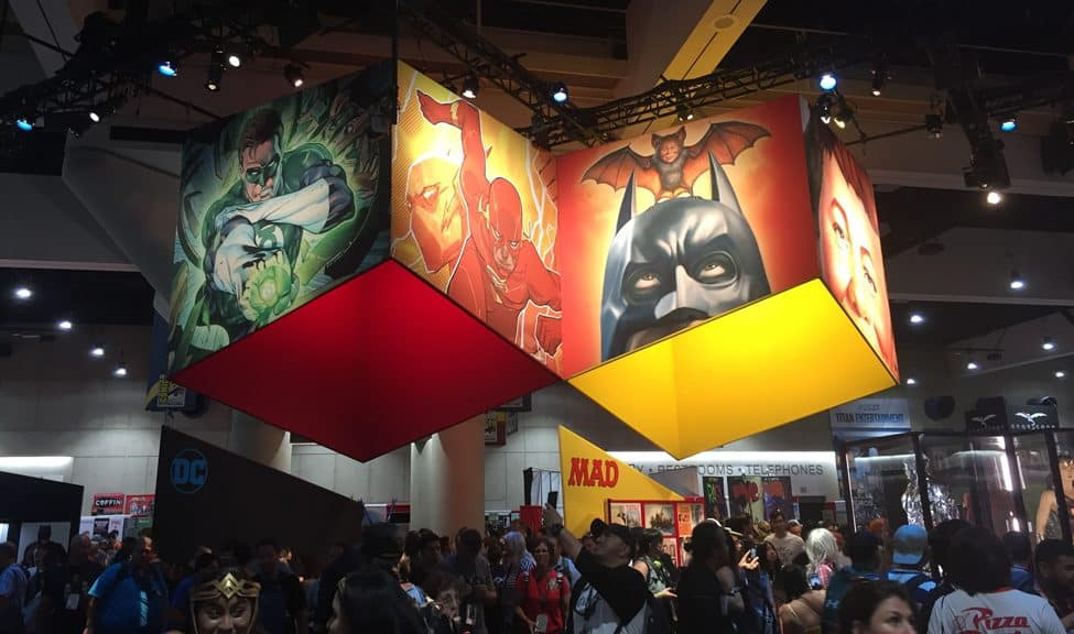 The convention floor at San Diego Comic-Con, held July 19-22.