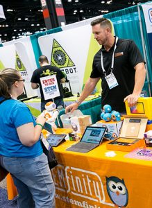 STEMfinity showcased its hands-on science products.