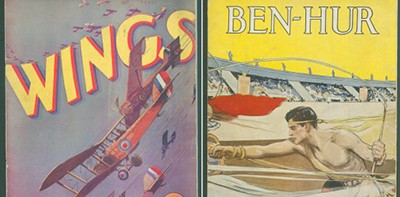 Souvenir film programs for Wings (1927) and Ben-Hur: A Tale of the Christ (1925).