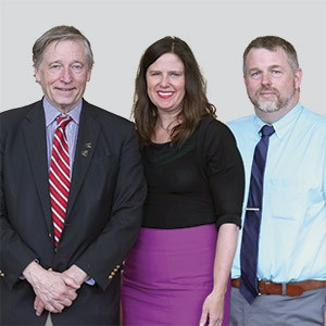 From left: Crosby Kemper III, executive director; Carrie Coogan, deputy director of public affairs; and Steven Woolfolk, director of programming and marketing