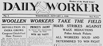 January 1, 1930, issue of The Daily Worker