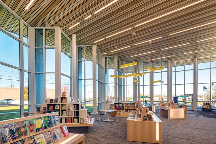 2017 library design showcase american libraries magazine for Interior exterior building supply corporate office