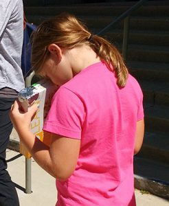 "Eclipse viewers made from cereal boxes was one way patrons at Evanston (Ill.) Public Library learned they can safely view the sun. <span class=""credit"">Photo: Kimberly Kaufmann</span>"