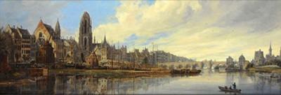 Ansicht von Frankfurt am Main, by Domenico Quaglio (1831)