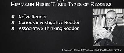 Hermann Hesse's three types of readers