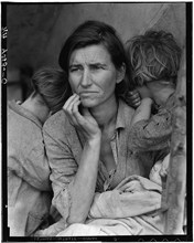 <em>Destitute pea pickers in California. Mother of seven children. Age thirty-two. Nipomo, California</em> by Dorothea Lange