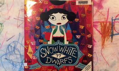 """Snow White and the 77 Dwarfs"" is one of several books at Millvale (Pa.) Community Library that come with maker project instructions. (Photo: Nora Peters)"