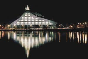 National Library of Latvia, Riga Architect: Gunnar Birkerts Architects, Gelzis-Smits/Arhetips Photo: David Oldham