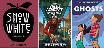 Three graphic novels for English language learners
