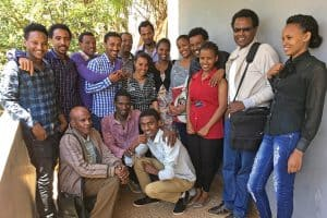 Joan Petit's first-year information science graduate students at Jimma University in Ethiopia. Photo: Joan Petit.