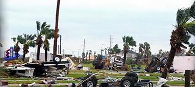 Damage from Hurricane Harvey
