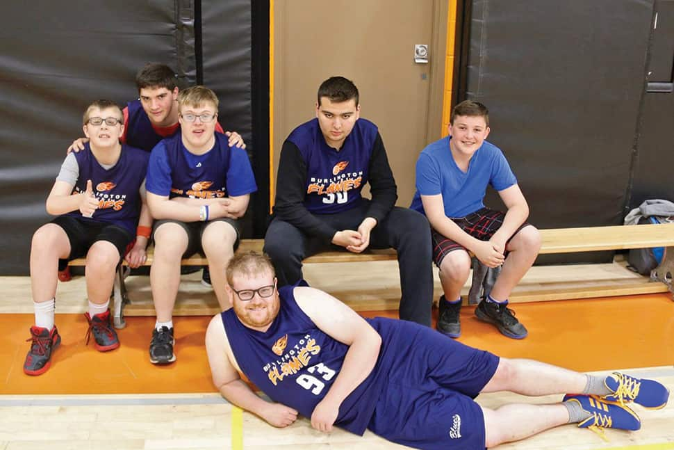 A scrimmage day featuring the Special Olympics Burlington team—and open to people of all abilities—was held in May. Photo: Special Olympics Burlington.
