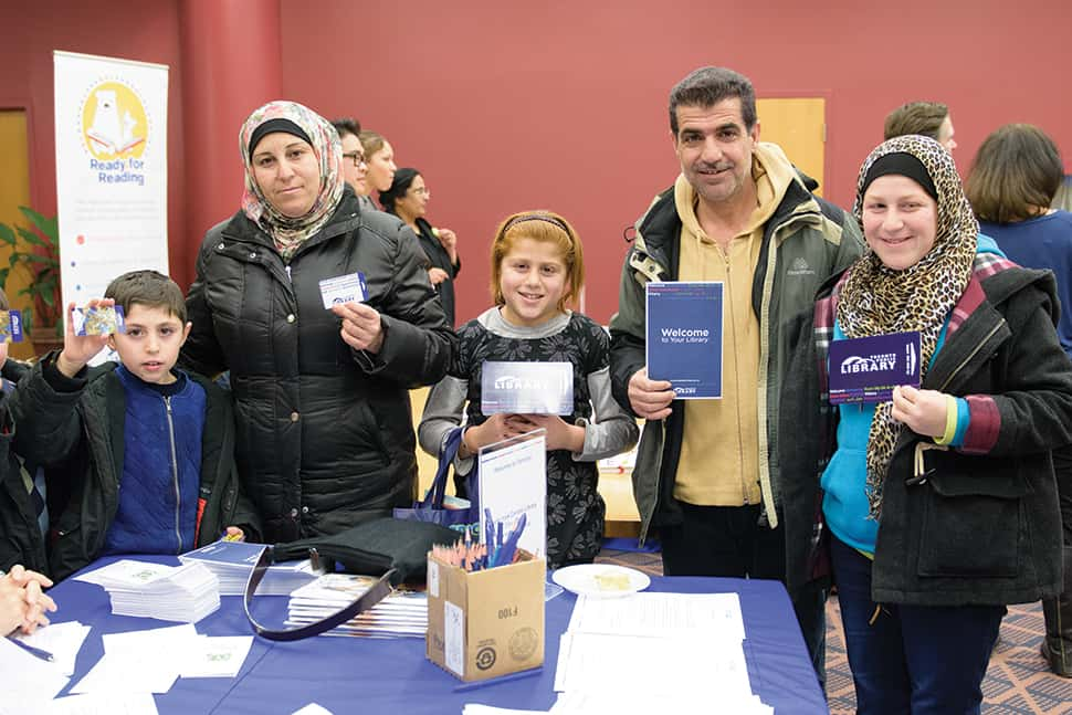 The North York Central Library branch of Toronto Public Library hosted a Syrian newcomers event to welcome its newest patrons. Photo: Toronto Public Library.