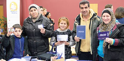 The North York Central Library branch of Toronto Public Library hosted a Syrian newcomers event to welcome its newest patrons. Photo: Toronto Public Library