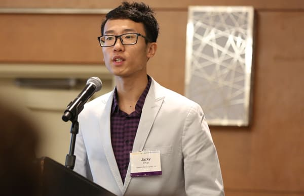 Oakland (Calif.) Public Library intern Jacky Chan focused his summer project on bridging the digital divide between senior citizens and teenagers. (Photo: Tori Soper)