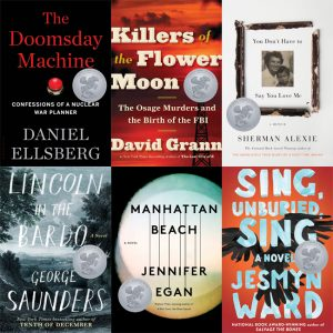 Covers of the 2018 Carnegie Medals Shortlist books