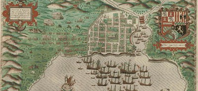 An image from Map and Views Illustrating Sir Francis Drake's West Indian Voyage, 1585–1586