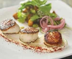 Diver scallops at Root Down. Photo: Danielle Saler