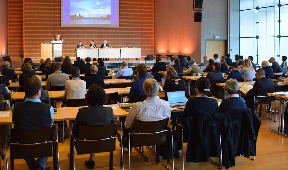 Attendees at the New Directions for Libraries, Scholars, and Partnerships symposium in Frankfurt, Germany, October 13. Photo: Judy Alspach