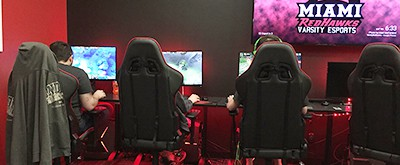 New e-sports arena provides dedicated space for newest sport at Miami University. Photo by David Mulford