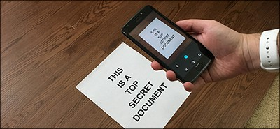 Scanning with a phone