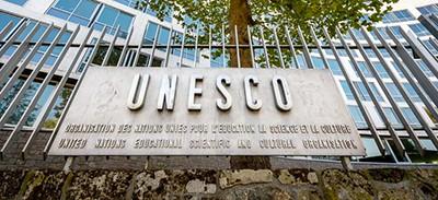 Sign on UNESCO headquarters