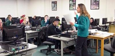 Michigan State University librarian teaching a class