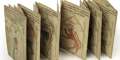An almanac from Worcestershire in 1389, on sheets folded in different arrangements