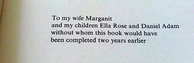 Acknowledgment from An Introduction to Algebraic Topology, by Joseph J. Rotman