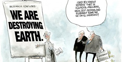 We are destroying earth cartoon from the Union of Concerned Scientists