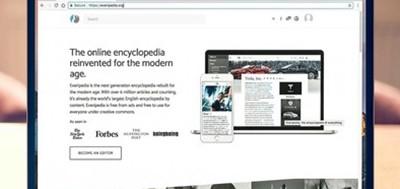 Everipedia webpage