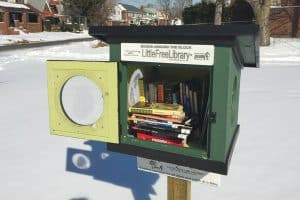 A Little Free Library at the LaSalle-Ford Park in Detroit. Photo: Detroit Little Libraries