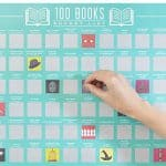 100 Books Scratch-off poster