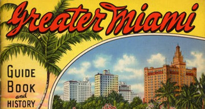 1935 Greater Miami guide book, from the University of Miami's Historical Florida brochures collection