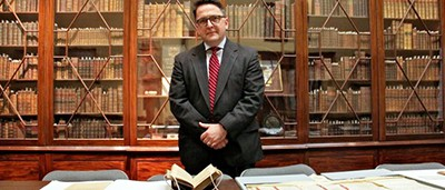"Michael Barsanti, director of the Library Company of Philadelphia, is looking forward to hosting ""Franklin Circles,"" a series of roundtable discussions on civic engagement inspired by Ben Franklin. Photo by Emma Lee, WHYY"