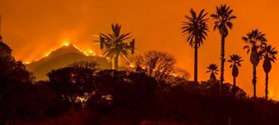 The Thomas Fire in Ventura and Santa Barbara counties