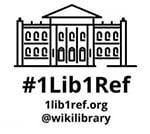 #1Lib1Ref logo